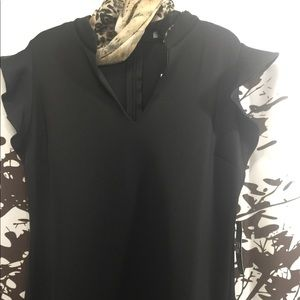 NY&CO black ruffle sleeve dress